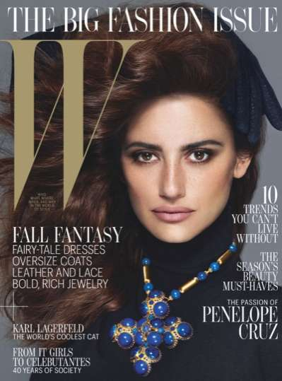 Penelope Cruz W Magazine feature