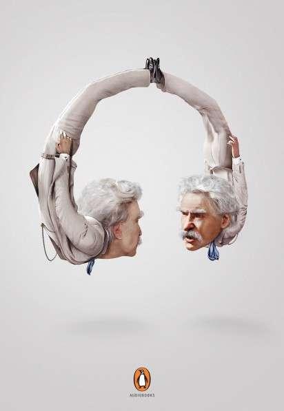Literary Figure Headphones