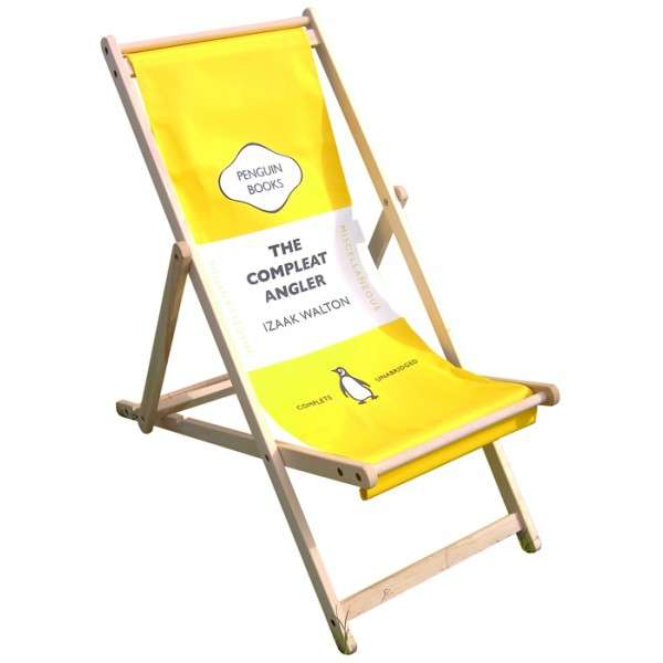 Penguin Book Cover Deck Chairs : Sharp scholarly seating penguin deckchair