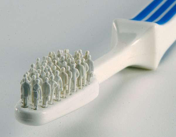 Human Toothbrushes Thomas Keely Sculptures Show People As