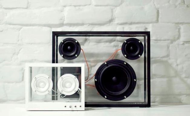 Translucent Rectangular Speakers