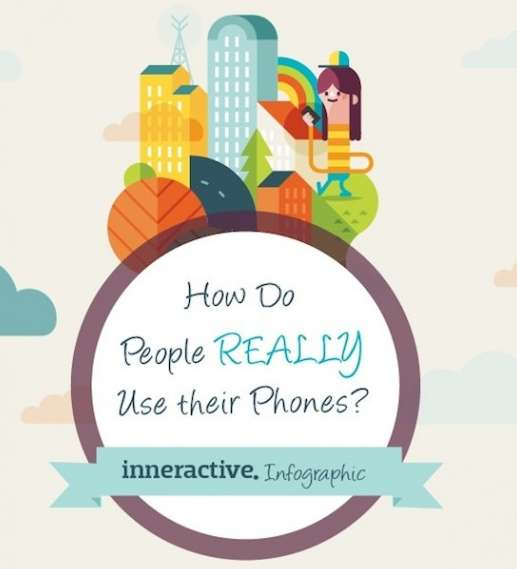 people use their phones infographic