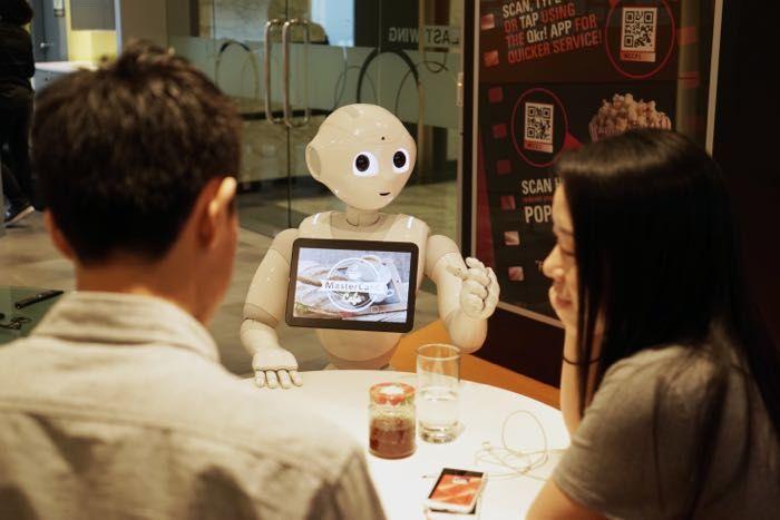 Robotic Pizzeria Waiters