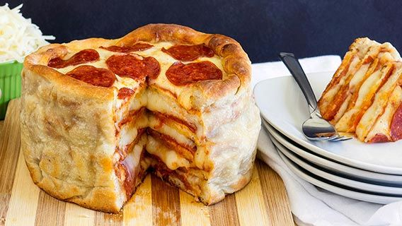 Pepperoni Pizza Cakes