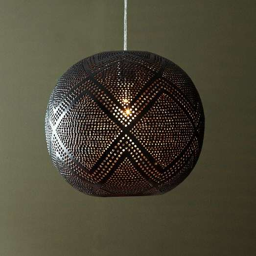 Pierced Pattern Illuminators Perforated Globe Pendant
