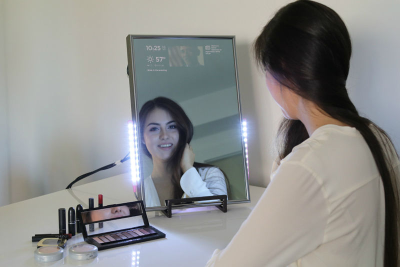 Smartphone-Mimicking Smart Mirrors