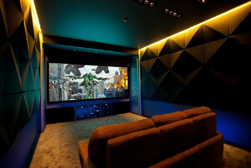 Vibrant Home Theater Designs
