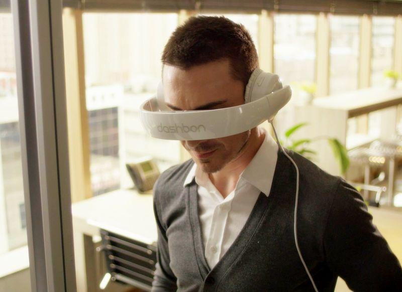 Wearable Headphone Screens