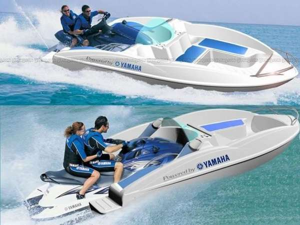 Jet Ski Jon Boat Conversion http://www.trendhunter.com/trends/personal-watercraft-jet-boat-conversion-dock-to-the-waveboat-in-60-seconds