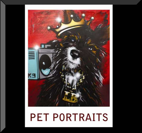 Pet Portrait Graffiti