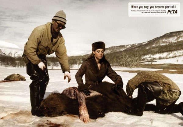 Brutal Skinning Animal Ads
