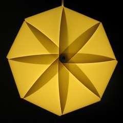 Petal-Shaped Lampshades