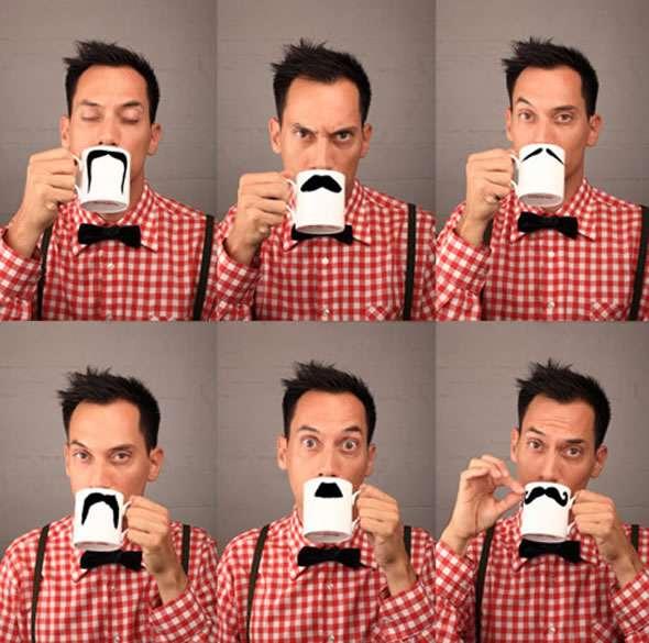 Fake Mustache Mugs