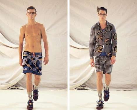 Hodgepodge-Patterned Menswear
