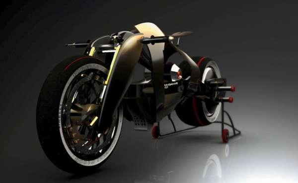 Retro Race-Ready Motorcycles