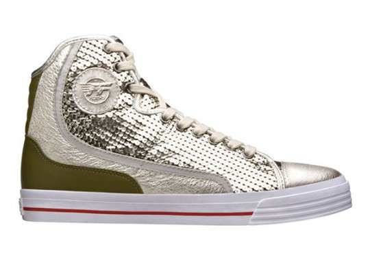 Shimmering Silver Sneakers
