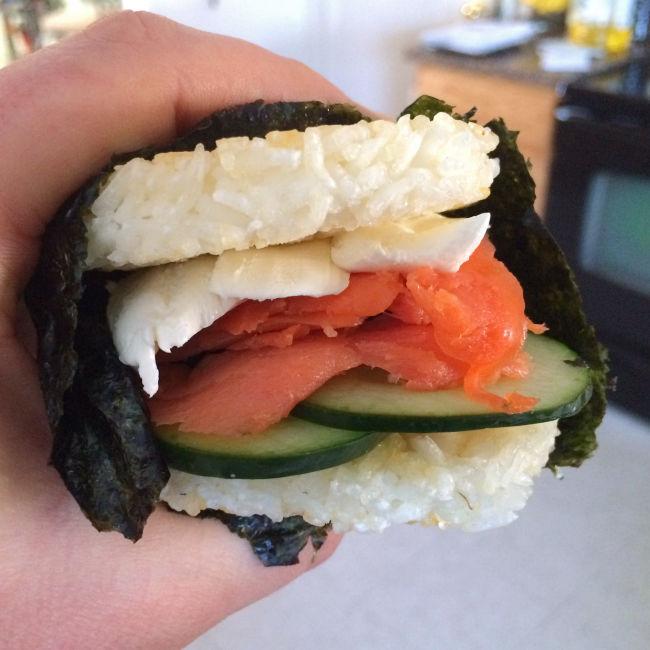 Salmon Sushi Sliders