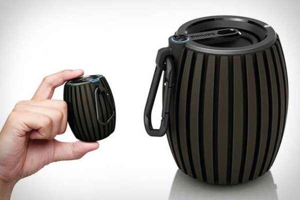Mini Belt-Clipping Speakers