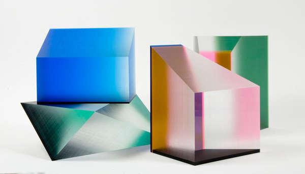 Geometric Lucite Sculptures