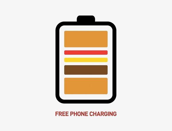 Burger-Mimicking Battery Logos