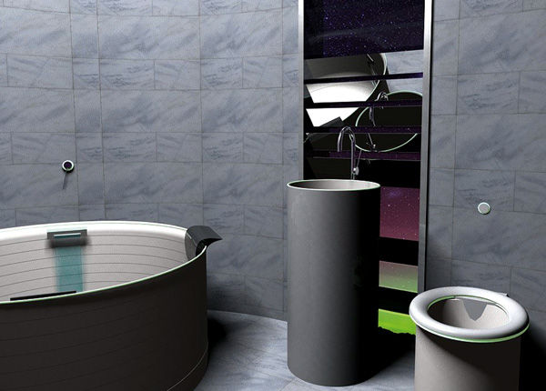 Fluorescent Plumbing Fixtures. 39 Luxe High Tech Bathroom Accessories