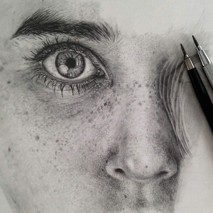 Photorealist Pencil Portraits