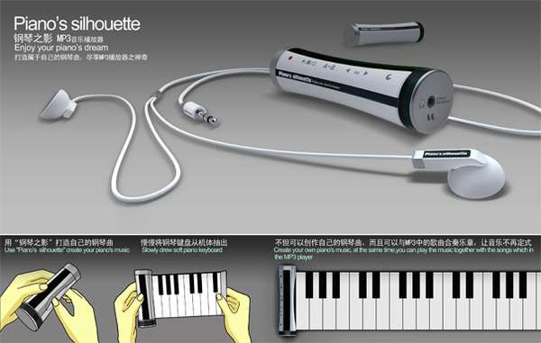 Piano Silhouette MP3 Player