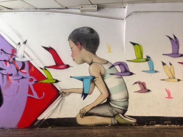 Imaginative Italian Metro Murals