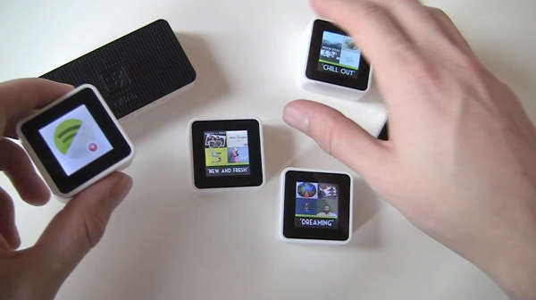 Rearrangeable Music Streaming Cubes