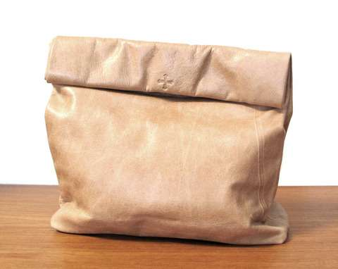 Picnic Bag in Tan Leather
