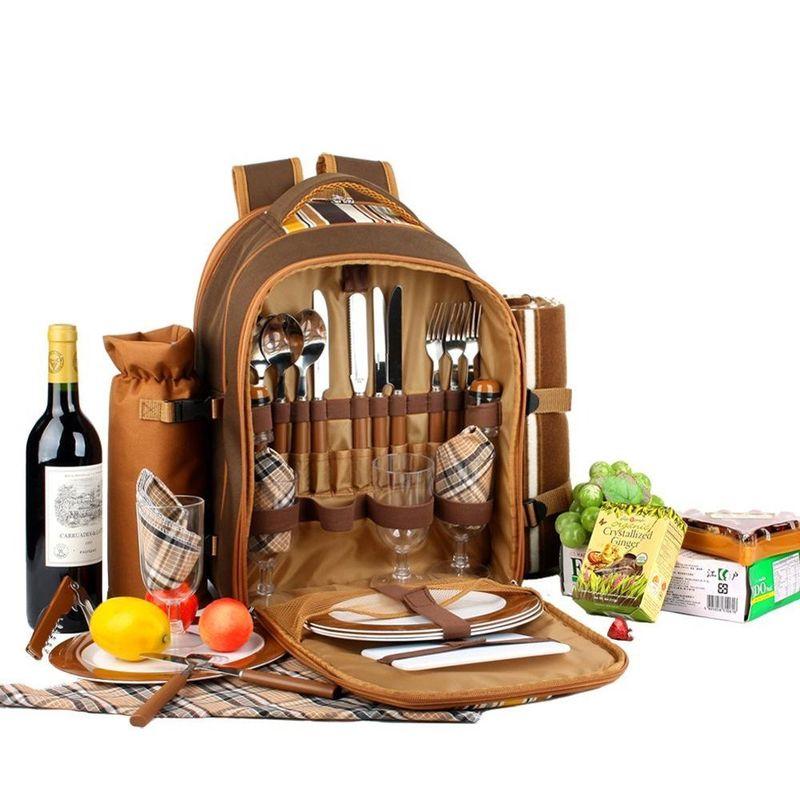 Picnic Basket Kit : Comprehensive picnic knapsacks kit