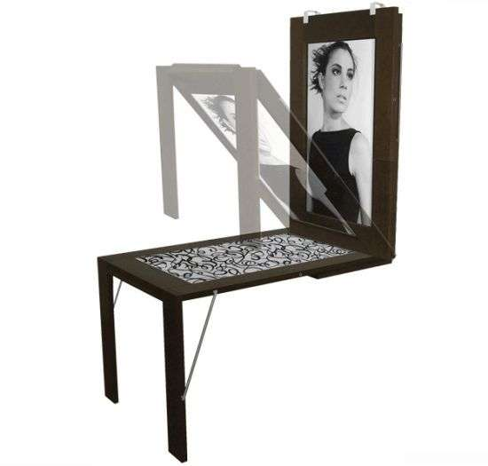 Space Saving Decor The Picture Table Transforms Into A