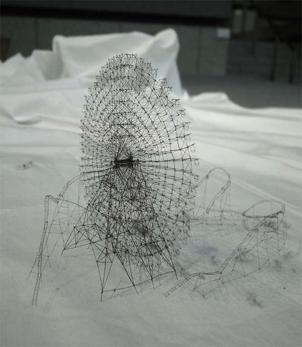 Intricate Thread Sculptures