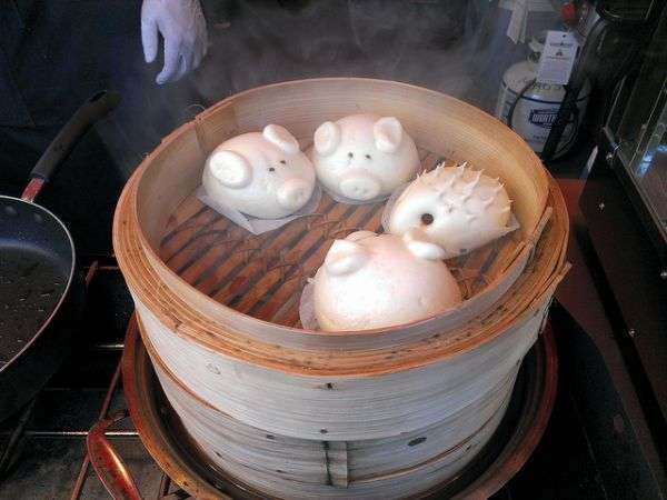 pig and hedgehog steamed dumplings