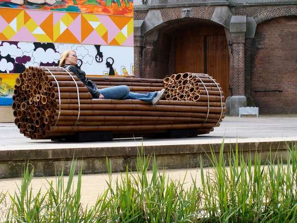 Pile Isle Bamboo Bench by  Elena Goray