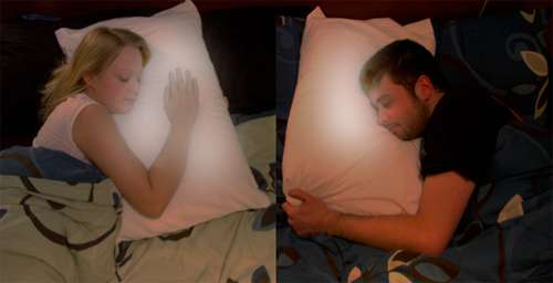 Heartbeat-Synching Pillows