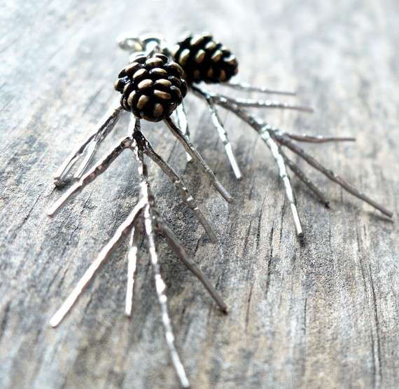 Festive Pine Cone Jewelry