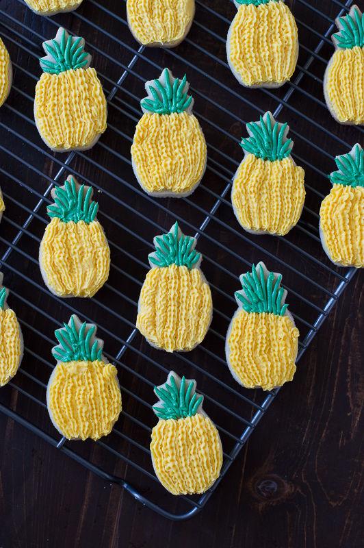 Tropical Pineapple Sugar Cookies
