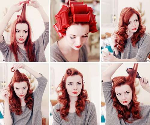 Fabulous 40s Hair Tutorials : pinup hair tutorial