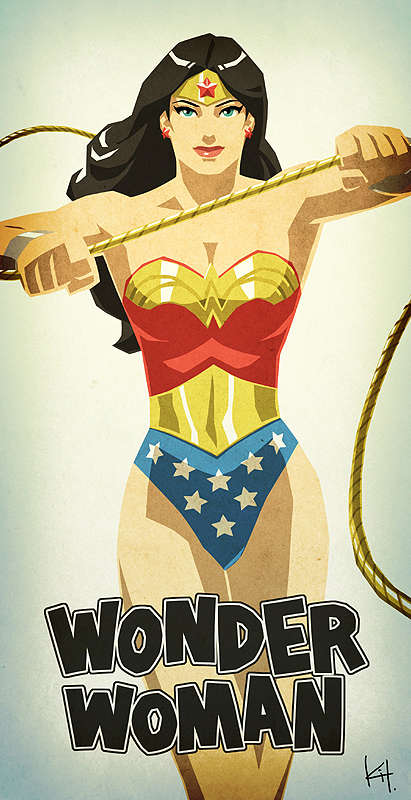 Pin-Up Style Superheroes