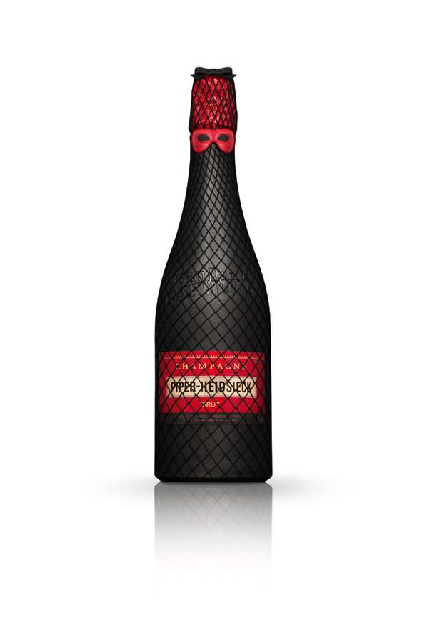 Fishnet Champagne Bottles