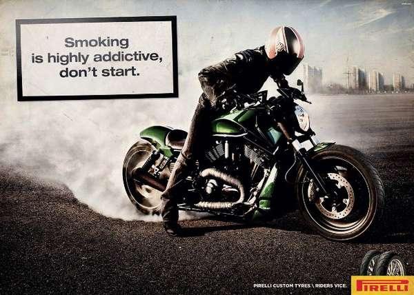 Smoking Biker PSAs
