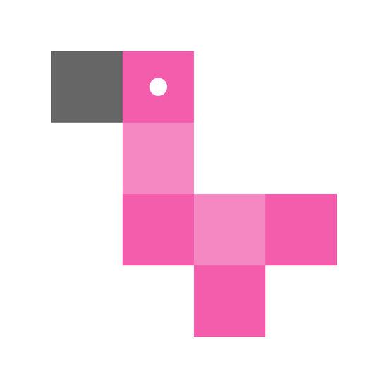 Pixelated Flamingo Prints