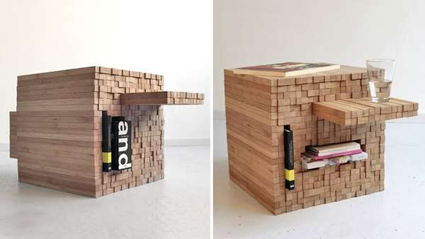 Jenga Inspired Furniture Pixel Table