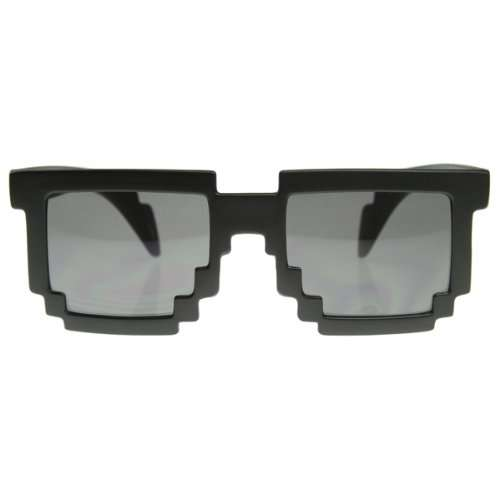 Pixelated Sunglasses  8 bit gamer shades pixelated 8 bit sunglasses