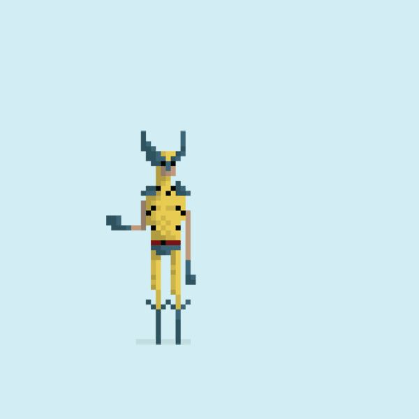 Pixelated Superhero GIFs