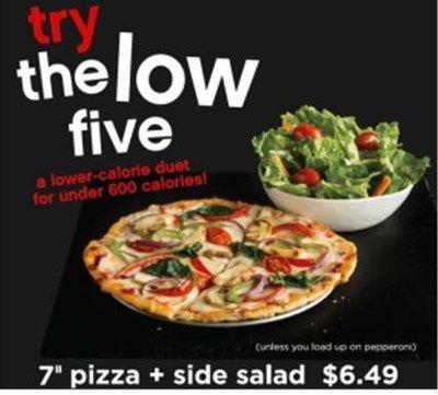 Low-Calorie Pizza Combos
