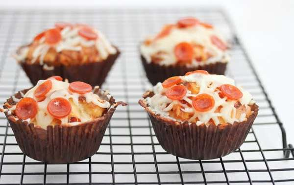Savory Pepperoni-Topped Cakes