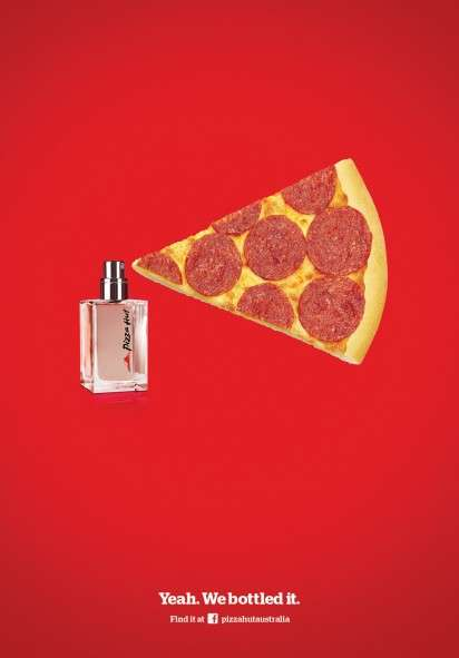 Pepperoni Pizza Perfume Ads