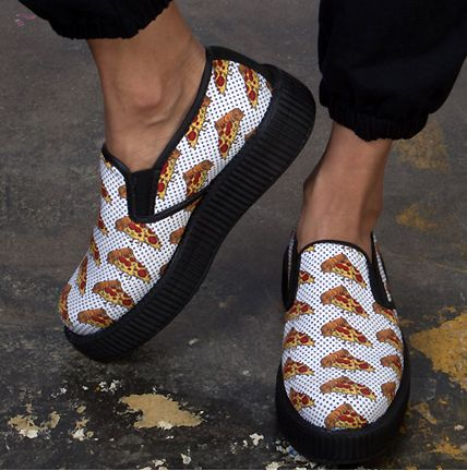 Pizza-Printed Sneakers